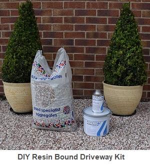 DIY resin bound driveway kit