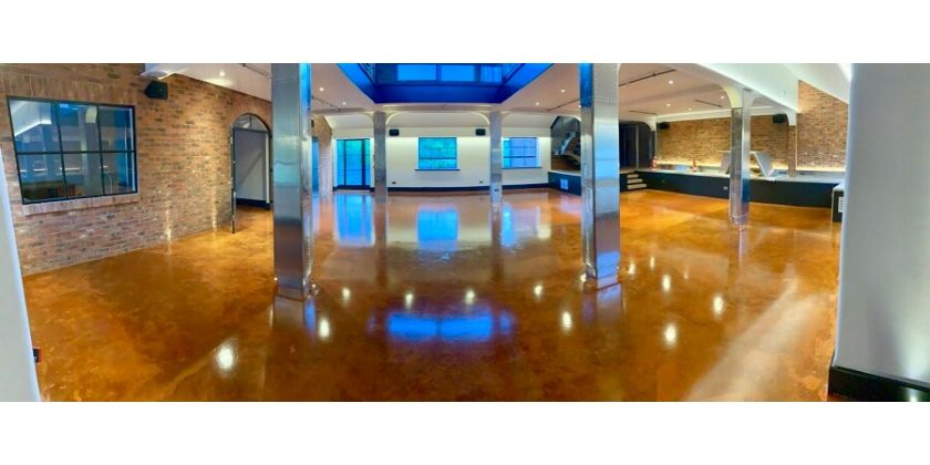 Resincoat Epoxy Paint Used To Create Customers Unique Concrete Floor Design